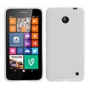 Coque Nokia Lumia 630 S-Line Silicone Gel Housse - Blanche
