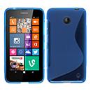 Coque Nokia Lumia 630 S-Line Silicone Gel Housse - Bleu