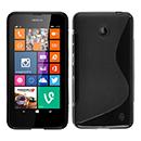 Coque Nokia Lumia 630 S-Line Silicone Gel Housse - Noire
