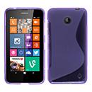 Coque Nokia Lumia 630 S-Line Silicone Gel Housse - Pourpre