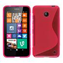 Coque Nokia Lumia 630 S-Line Silicone Gel Housse - Rose Chaud
