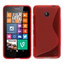Coque Nokia Lumia 630 S-Line Silicone Gel Housse - Rouge