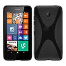 Coque Nokia Lumia 630 X-Style Silicone Gel Housse - Noire