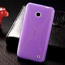 Coque Nokia Lumia 630 X-Style Silicone Gel Housse - Pourpre