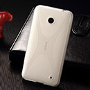 Coque Nokia Lumia 635 X-Style Silicone Gel Housse - Blanche