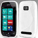 Coque Nokia Lumia 710 S-Line Silicone Gel Housse - Blanche