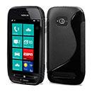 Coque Nokia Lumia 710 S-Line Silicone Gel Housse - Noire