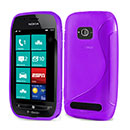 Coque Nokia Lumia 710 S-Line Silicone Gel Housse - Pourpre
