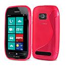 Coque Nokia Lumia 710 S-Line Silicone Gel Housse - Rose Chaud