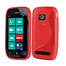 Coque Nokia Lumia 710 S-Line Silicone Gel Housse - Rouge