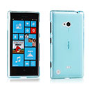 Coque Nokia Lumia 720 Silicone Transparent Housse - Bleu