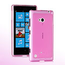 Coque Nokia Lumia 720 Silicone Transparent Housse - Rose
