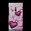 Coque Nokia Lumia 800 Amour Silicone Housse Gel - Pourpre