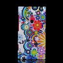 Coque Nokia Lumia 800 Fleurs Silicone Housse Gel - Verte