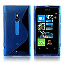 Coque Nokia Lumia 800 S-Line Silicone Gel Housse - Bleu