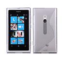 Coque Nokia Lumia 800 S-Line Silicone Gel Housse - Gris