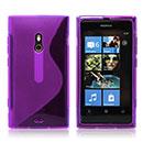 Coque Nokia Lumia 800 S-Line Silicone Gel Housse - Pourpre