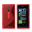 Coque Nokia Lumia 800 S-Line Silicone Gel Housse - Rouge