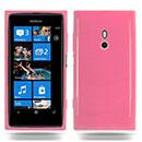 Coque Nokia Lumia 800 Silicone Gel Housse - Rose