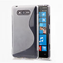 Coque Nokia Lumia 820 S-Line Silicone Gel Housse - Blanche