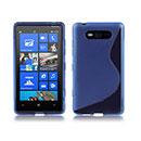 Coque Nokia Lumia 820 S-Line Silicone Gel Housse - Bleu