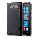 Coque Nokia Lumia 820 S-Line Silicone Gel Housse - Noire