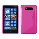 Coque Nokia Lumia 820 S-Line Silicone Gel Housse - Rose Chaud