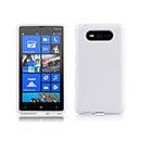 Coque Nokia Lumia 820 Silicone Gel Housse - Blanche
