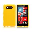 Coque Nokia Lumia 820 Silicone Gel Housse - Jaune