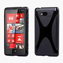 Coque Nokia Lumia 820 X-Line Silicone Gel Housse - Noire
