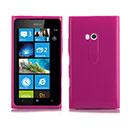 Coque Nokia Lumia 900 Silicone Gel Housse - Rose Chaud