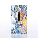 Coque Nokia Lumia 920 Fleurs Plastique Etui Rigide - Verte