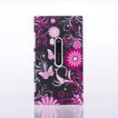 Coque Nokia Lumia 920 Papillon Plastique Etui Cover Rigide - Rose Chaud