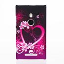 Coque Nokia Lumia 925 Amour Plastique Etui Rigide - Pourpre