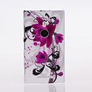 Coque Nokia Lumia 925 Fleurs Plastique Etui Rigide - Pourpre