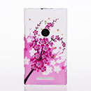 Coque Nokia Lumia 925 Fleurs Plastique Etui Rigide - Rose