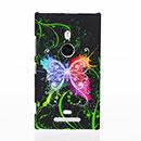 Coque Nokia Lumia 925 Papillon Plastique Etui Rigide - Verte