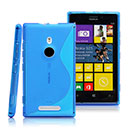 Coque Nokia Lumia 925 S-Line Silicone Gel Housse - Bleu