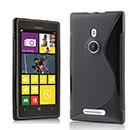 Coque Nokia Lumia 925 S-Line Silicone Gel Housse - Noire