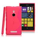 Coque Nokia Lumia 925 S-Line Silicone Gel Housse - Rose Chaud