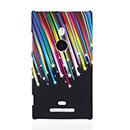 Coque Nokia Lumia 925 Stars Plastique Etui Rigide - Noire
