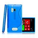 Coque Nokia Lumia 928 S-Line Silicone Gel Housse - Bleu
