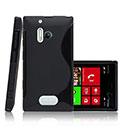 Coque Nokia Lumia 928 S-Line Silicone Gel Housse - Noire
