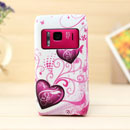 Coque Nokia N8 Amour Silicone Housse Gel - Pourpre