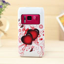 Coque Nokia N8 Amour Silicone Housse Gel - Rouge