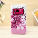 Coque Nokia N8 Fleurs Silicone Housse Gel - Rose