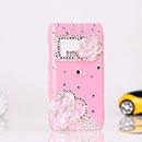 Coque Nokia N8 Luxe Fleurs Diamant Bling Etui Rigide - Rose