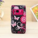 Coque Nokia N8 Papillon Silicone Housse Gel - Noire