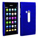 Coque Nokia N9 Filet Plastique Etui Rigide - Bleu
