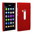 Coque Nokia N9 Filet Plastique Etui Rigide - Rouge